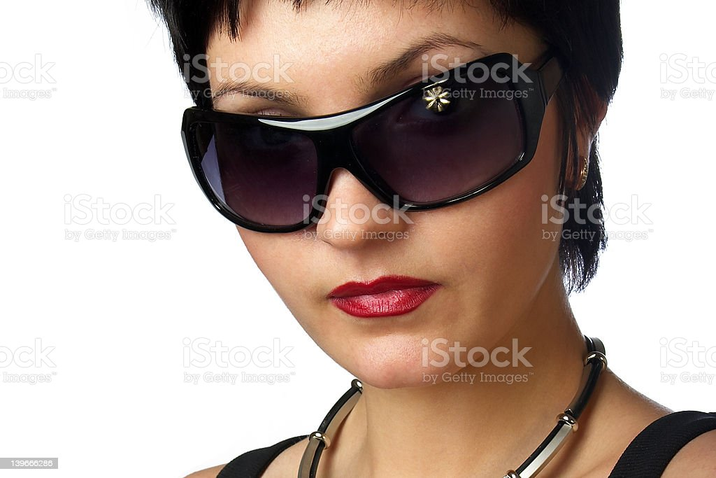 Attractive woman. Portrait. Close-up. royalty-free stock photo