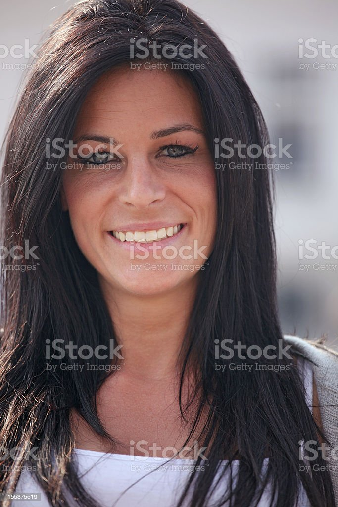 Attractive woman portrait outdoor royalty-free stock photo