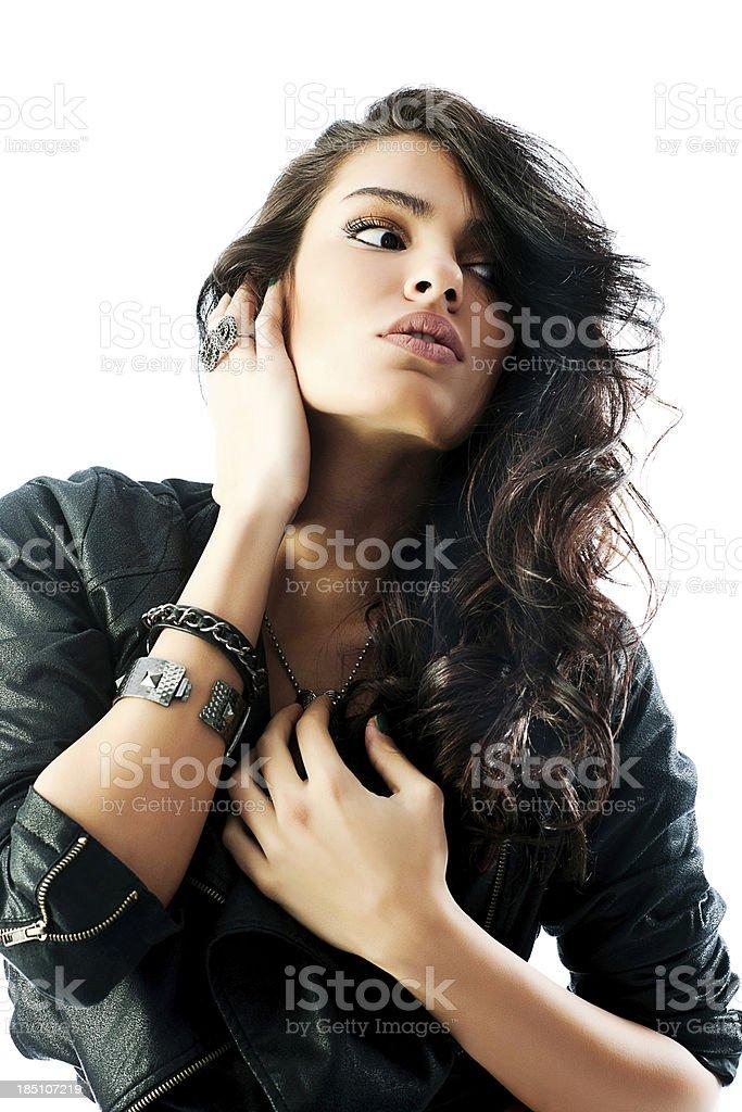 Attractive woman posing at the camera. royalty-free stock photo