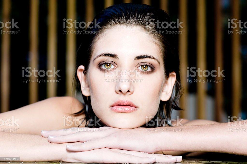 Attractive Woman Wellness Portrait royalty-free stock photo