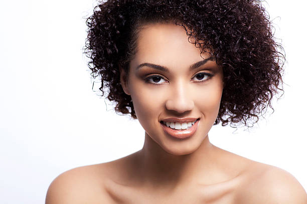 Attractive woman with a smile stock photo