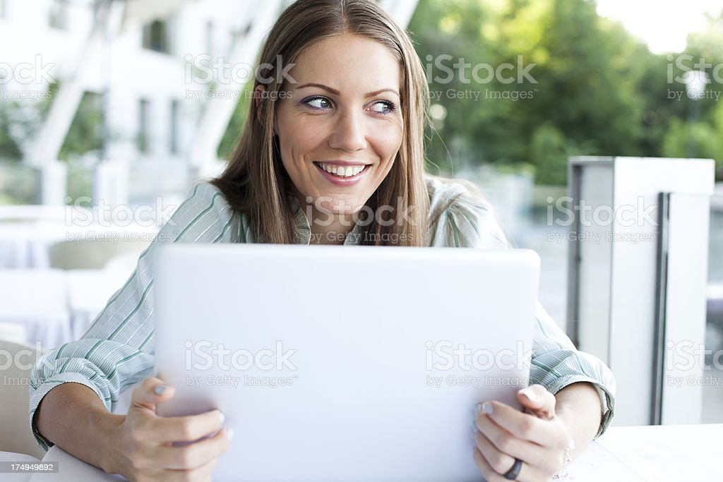 Attractive Woman With Laptop royalty-free stock photo