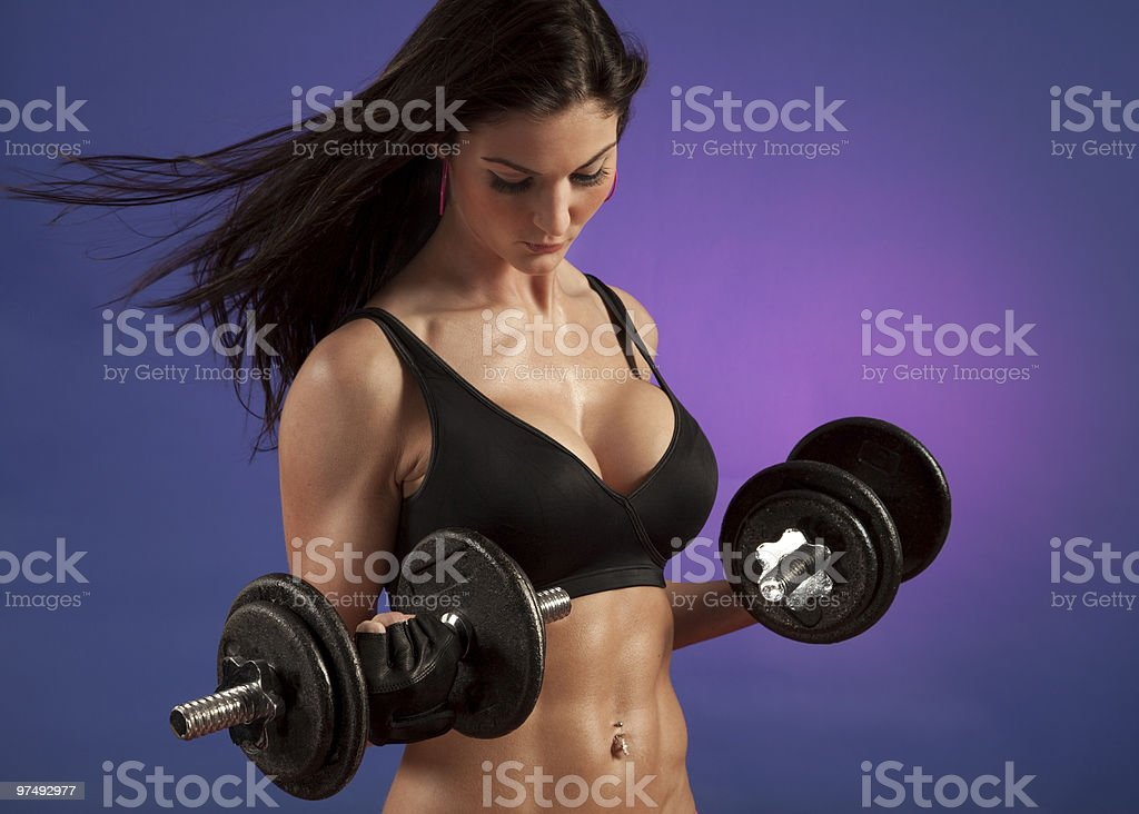 Attractive Woman Working Out royalty-free stock photo