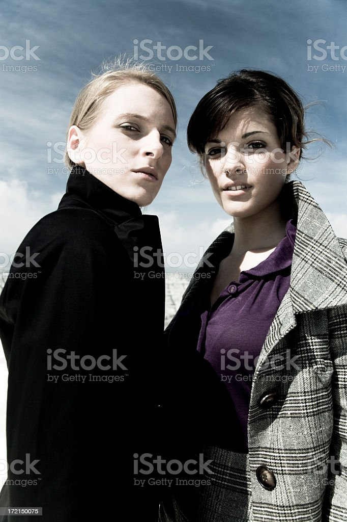attractive women, welcome to the matrix series IX royalty-free stock photo