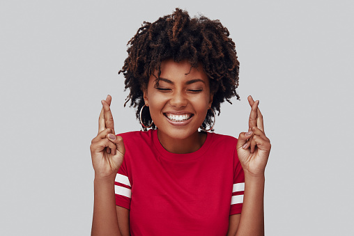 istock Attractive young African woman 1163735848