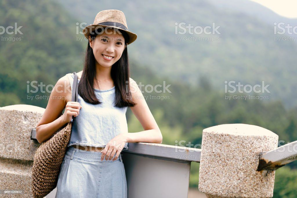 attractive young asian woman enjoying summer - Royalty-free Adult Stock Photo