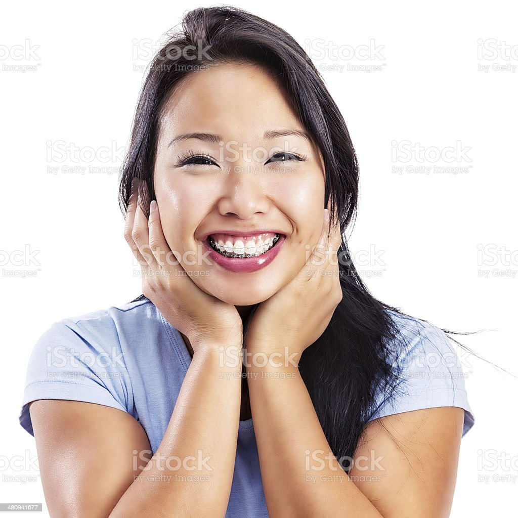 attractive young asian woman with braces stock photo more pictures