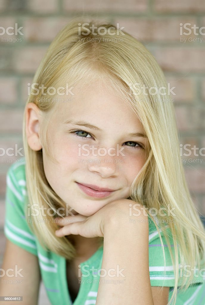 Attractive Young Blonde Haired Girl royalty-free stock photo