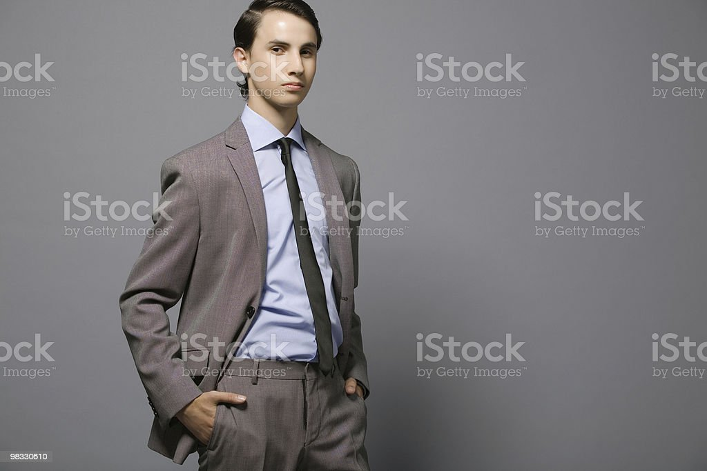 Attractive young businessman. royalty-free stock photo