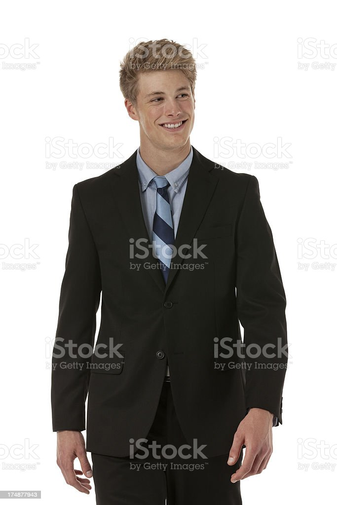Attractive young businessman smiling royalty-free stock photo