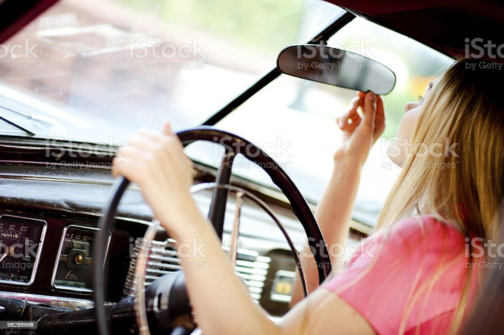 Attractive young car driver royalty-free stock photo