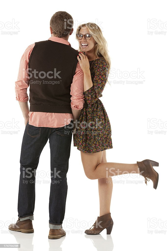 Attractive young couple in love royalty-free stock photo
