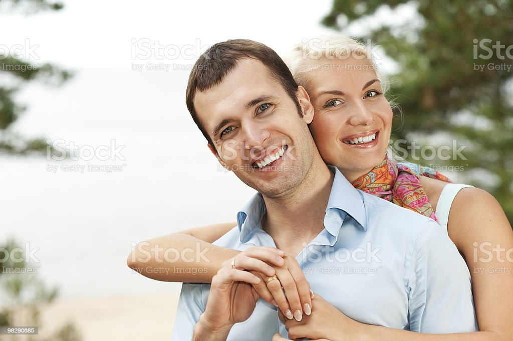 Attractive young couple outdoors royalty-free stock photo