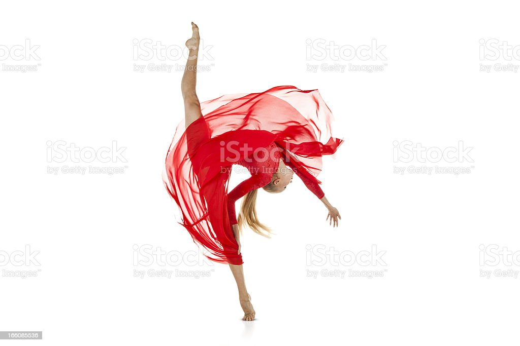 Attractive young female gymnast royalty-free stock photo