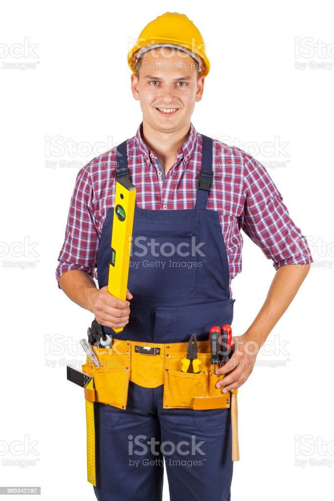 Attractive young handyman zbiór zdjęć royalty-free