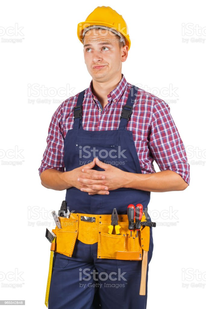 Attractive young handyman royalty-free stock photo
