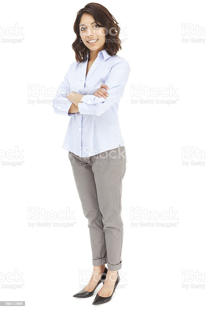 Attractive Young Hispanic Businesswoman royalty-free stock photo