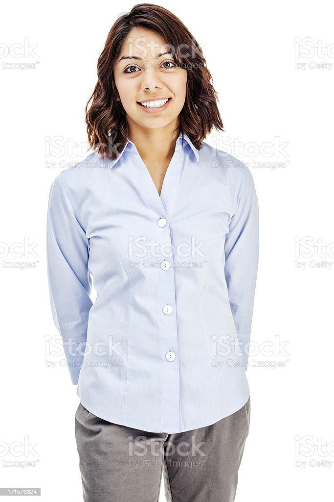 Attractive Young Hispanic Businesswoman stock photo