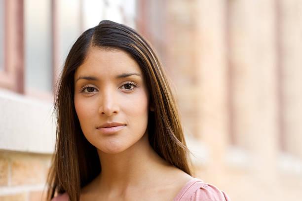Attractive young Hispanic woman stock photo