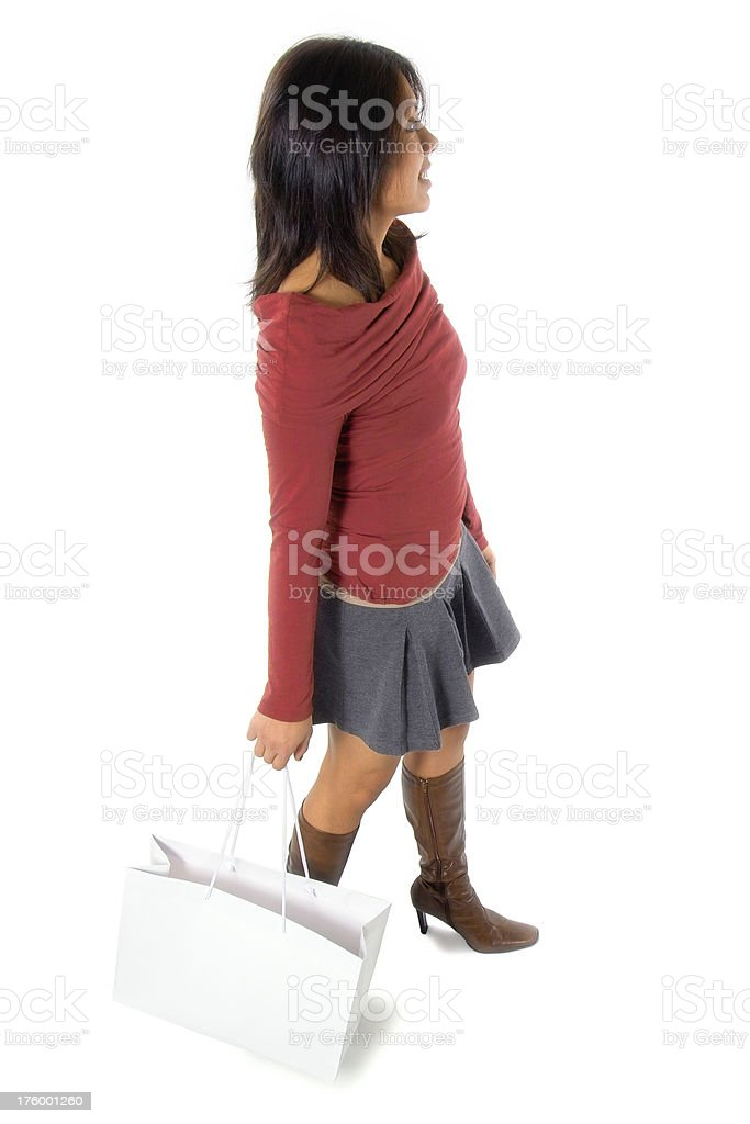 Attractive Young Hispanic Woman with Shopping Bags royalty-free stock photo