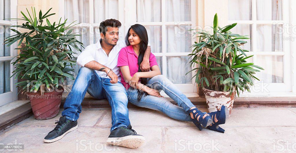 Attractive Young Indian Couple stock photo