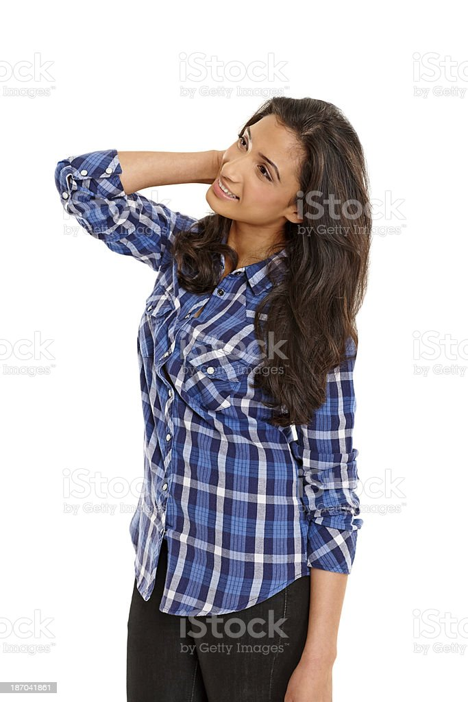 Attractive young Indian girl looking away royalty-free stock photo