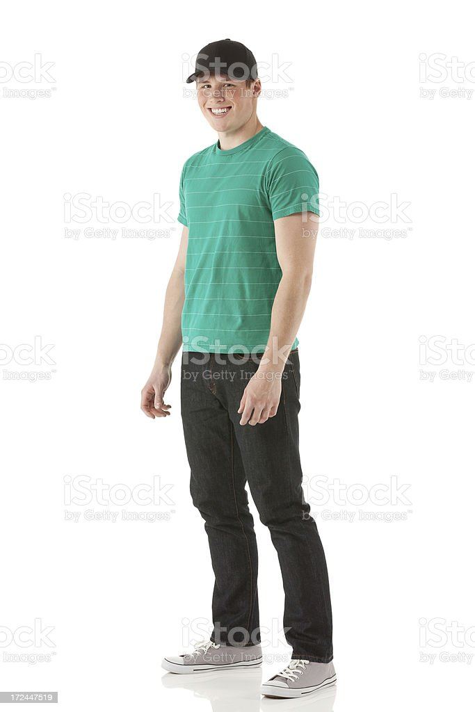 Attractive young man smiling royalty-free stock photo