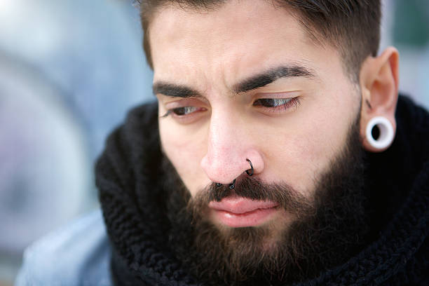1 119 Men Nose Piercing Stock Photos Pictures Royalty Free