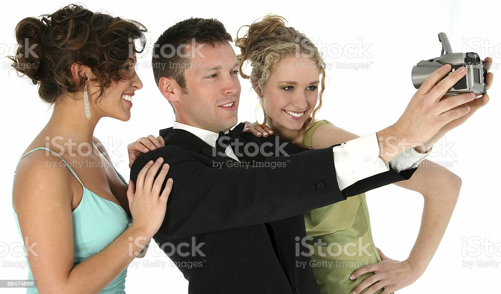 Attractive Young People in Formals royalty-free stock photo