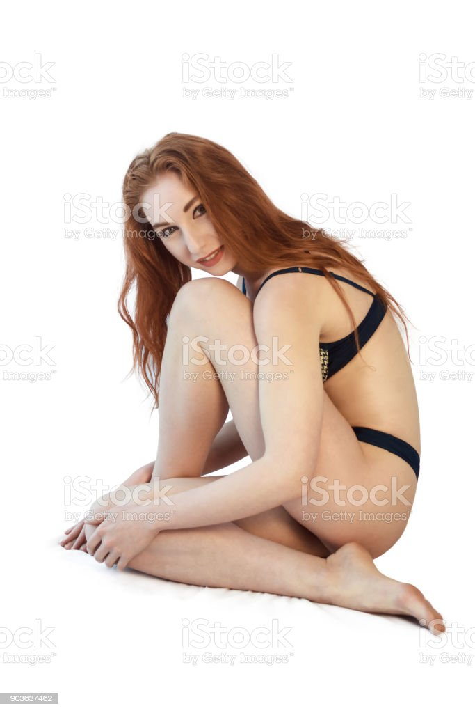 Photo redhead underwear