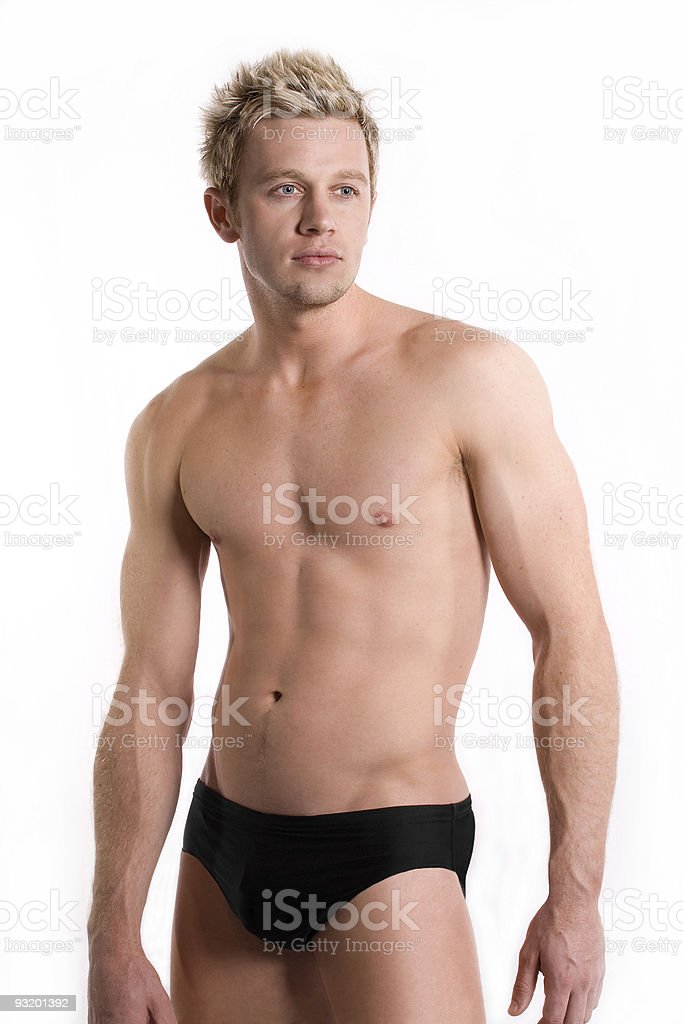 Attractive young swimmer royalty-free stock photo