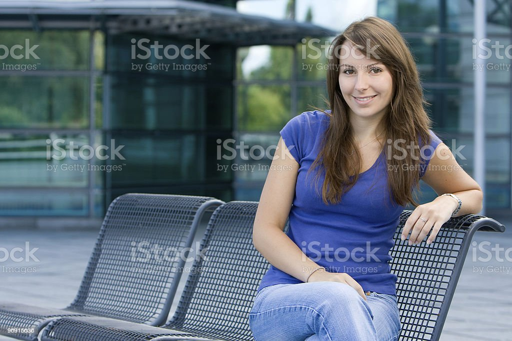 Attractive young teenage girl royalty-free stock photo