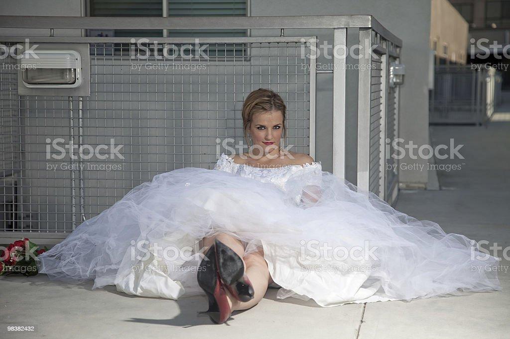 Attraente giovane anni Venti caucasica sposa foto stock royalty-free