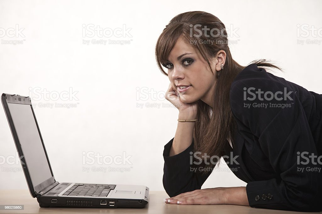 Attractive young twenties caucasian businesswoman royalty-free stock photo