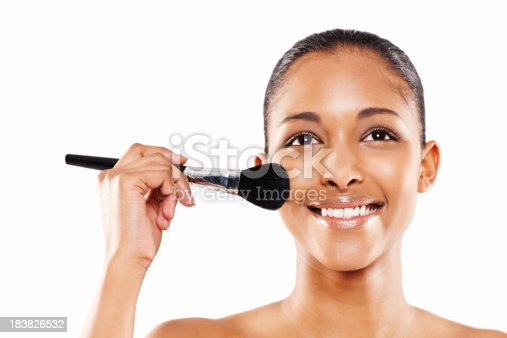 498422806 istock photo Attractive Young Woman Applying Make-up 183826532