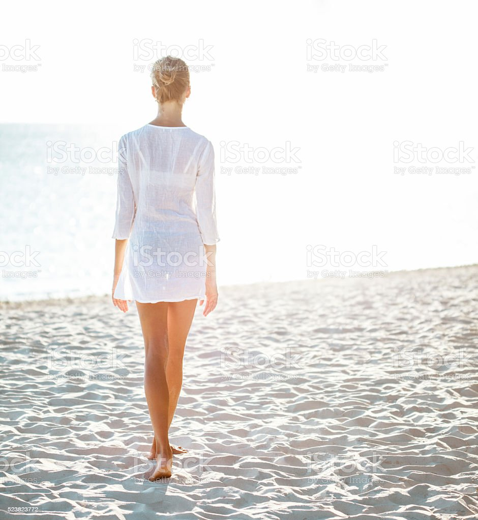 Woman Enjoying At Beach Stock Image Image Of Pleasure: Attractive Young Woman Enjoying A Day At The Beach Stock