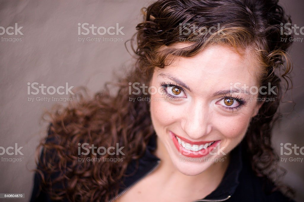 Attractive Young Woman Headshot stock photo