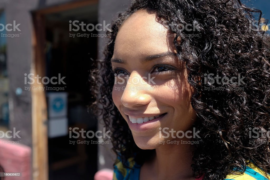 Attractive Young Woman Looking off to the Side royalty-free stock photo