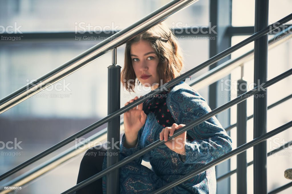 Attractive young woman foto stock royalty-free