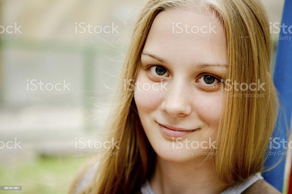 Attraente giovane donna Ritratto foto stock royalty-free