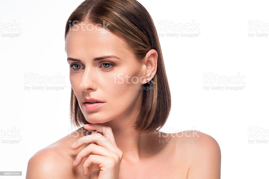 Attractive young woman posing for photo royalty-free stock photo