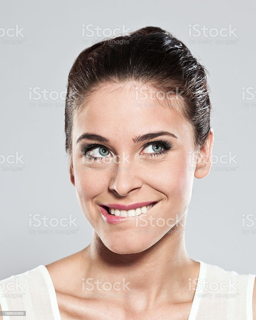Attractive young woman, Studio Portrait stock photo