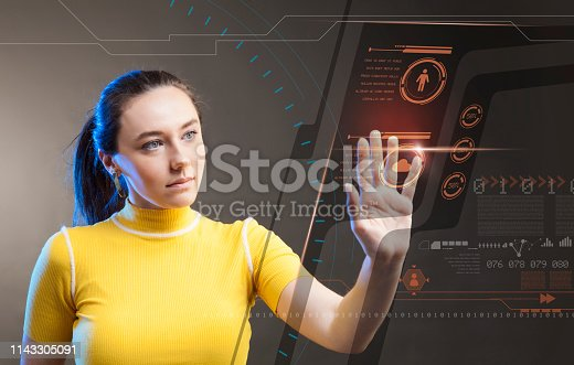 872670540 istock photo Attractive young woman using new technologies 1143305091