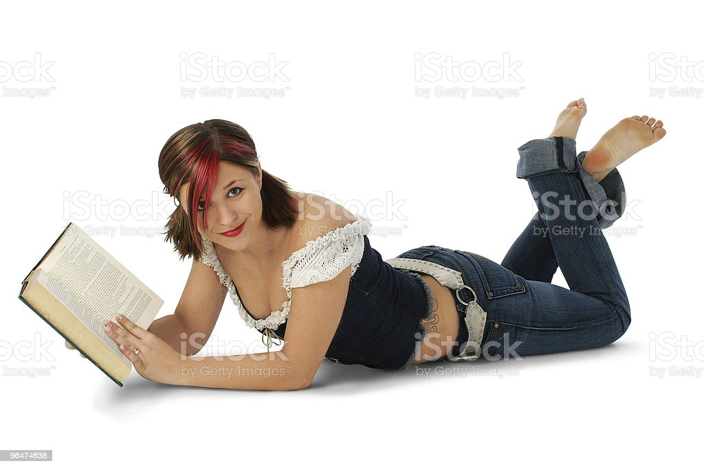 Attractive Young Woman with Book royalty-free stock photo