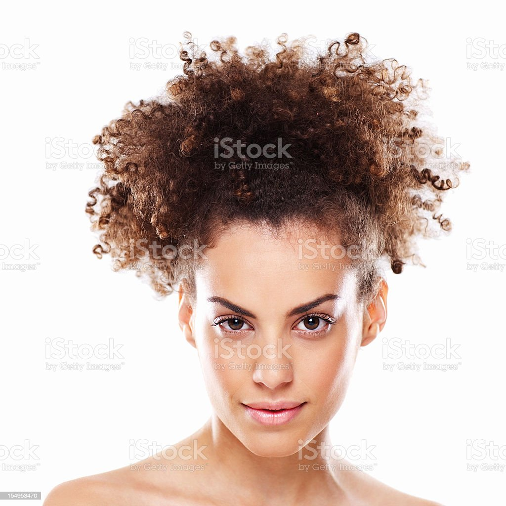 Attractive Young Woman With Slight Smile royalty-free stock photo