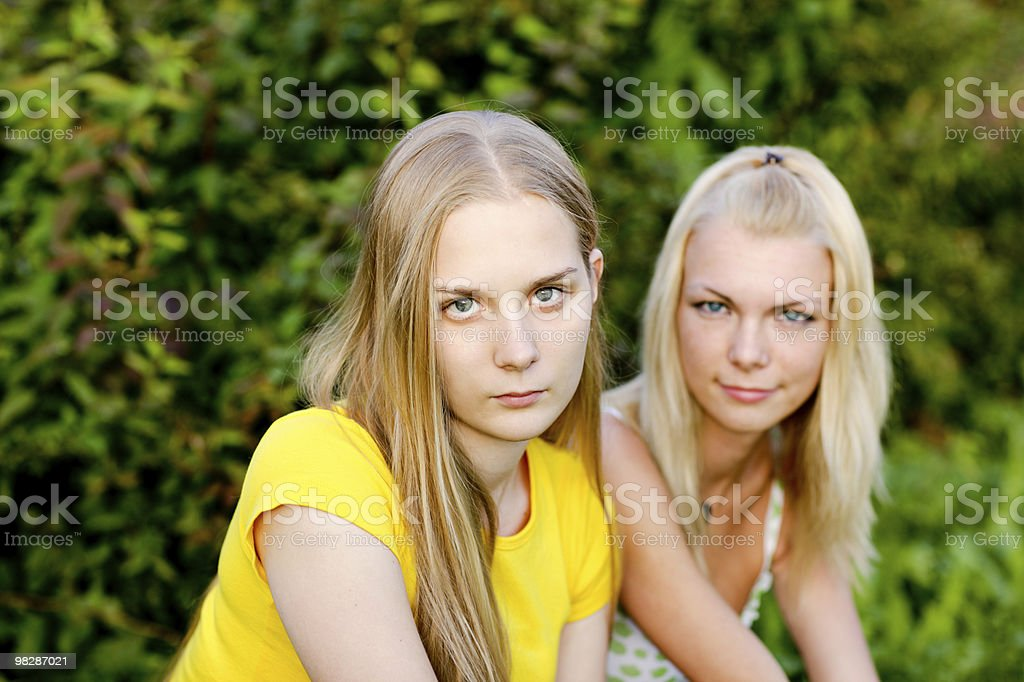 Attractive young women royalty-free stock photo