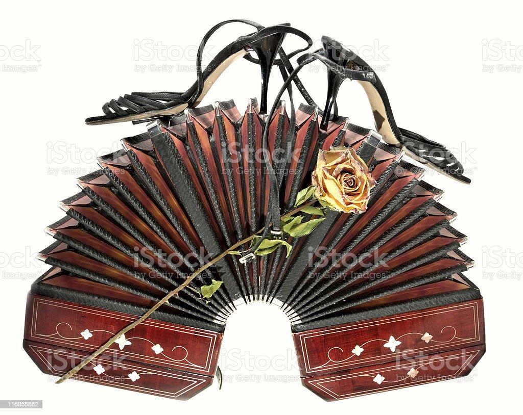 Atributos de tango argentino - foto de stock