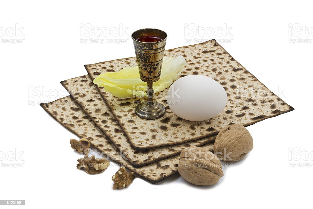 Attributes of Jewish Passover Seder Holidays royalty-free stock photo