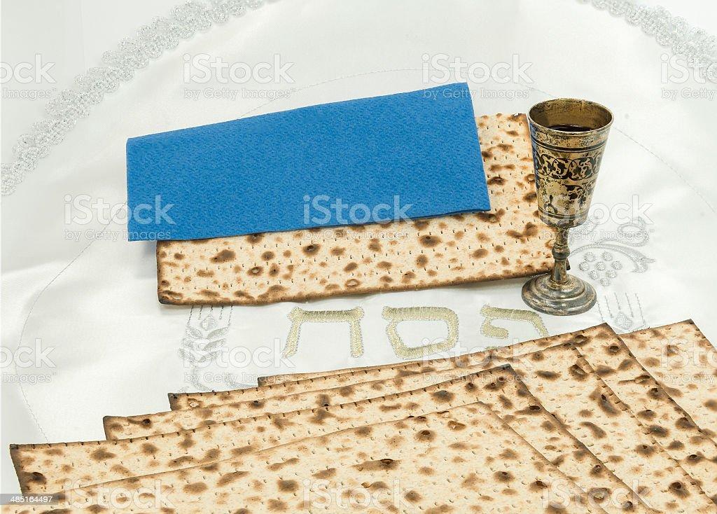 Attributes of Jewish Passover Seder royalty-free stock photo
