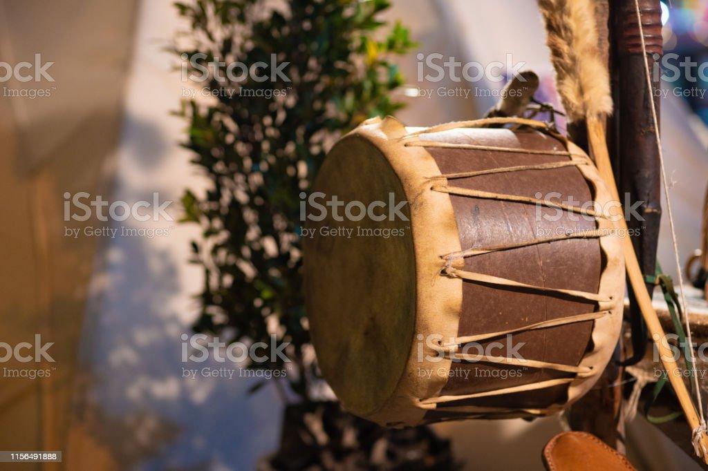 Attributes of Native American Culture at a Native American Festival....